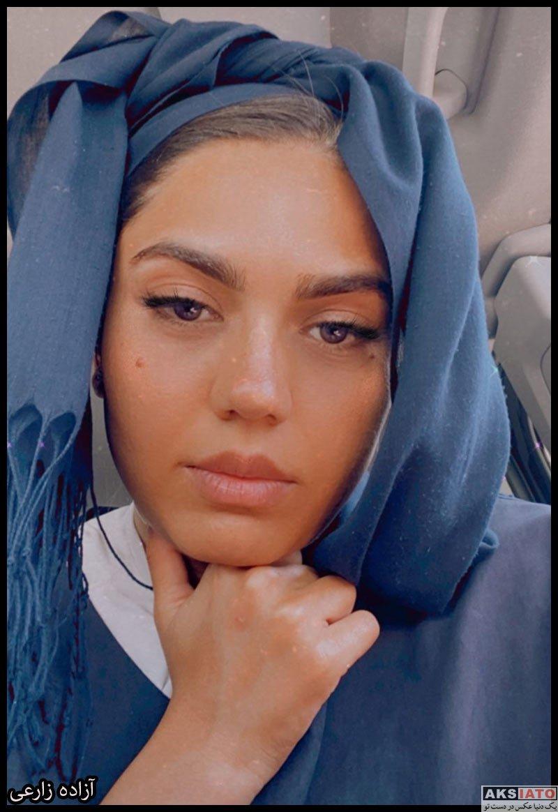 بازیگران بازیگران زن ایرانی  آزاده زارعی در تابستان سال 1400 (10 عکس)
